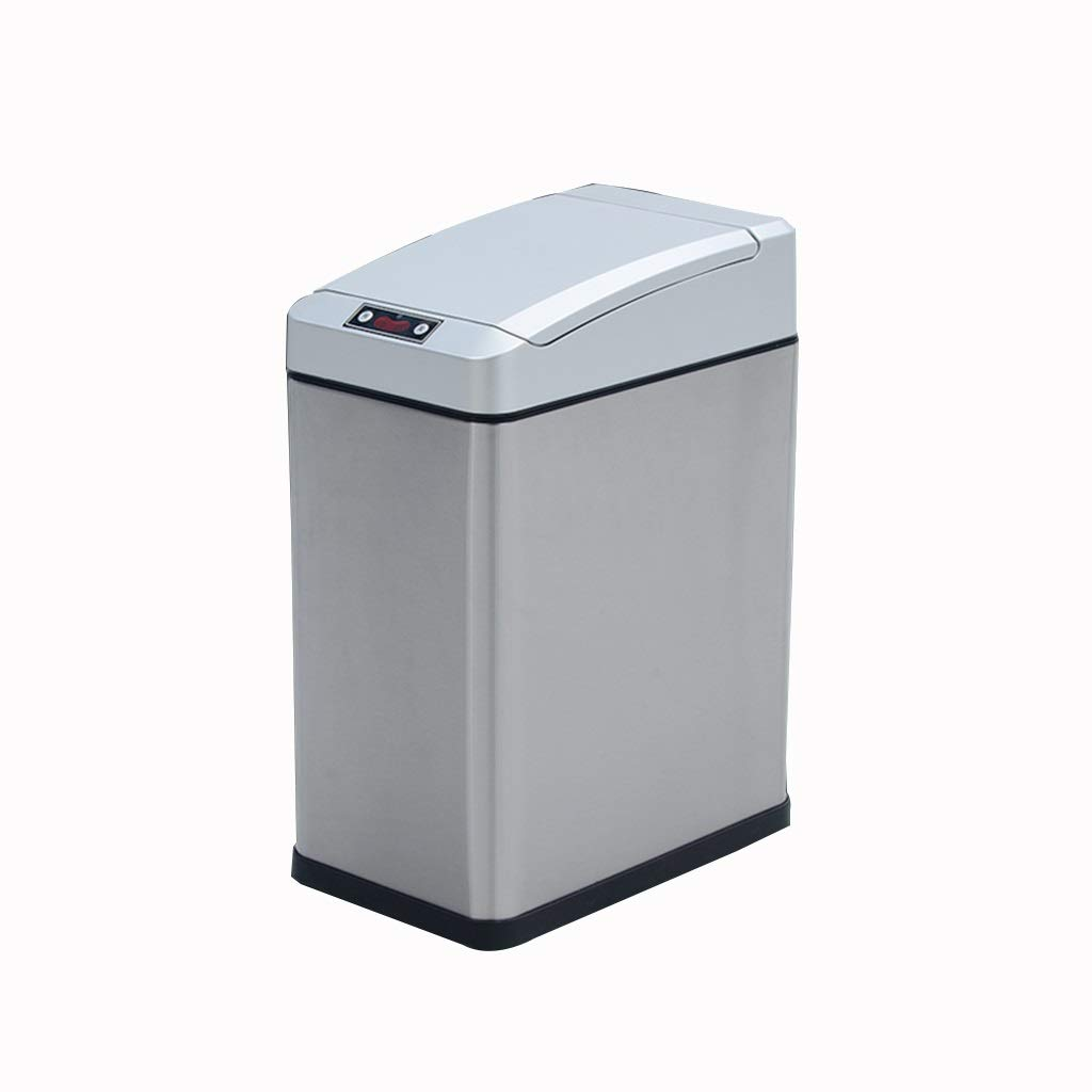 MCGMXG Intelligent Sensor Trash Can Household Electric Trash Can Office Stainless Steel Waste Bin 25X15X35CM Multi-Color Optional Trash can (Color : D)