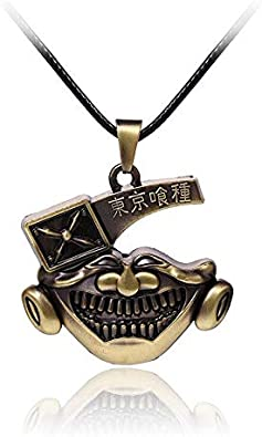 Necklace for Men Popular Anime Tokyo Ghoul Kaneki Ken Necklace Fashion Personality Bronze Rope Leather Chain Pendant Necklaces For Women Jewelry
