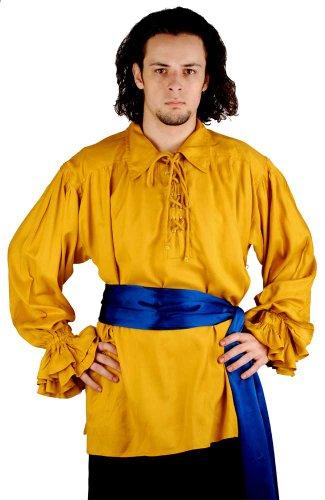 Satin Pirate Bandana - ThePirateDressing Pirate Buccaneer Renaissance Medieval Costume Bandana Sash (Cobalt Blue)