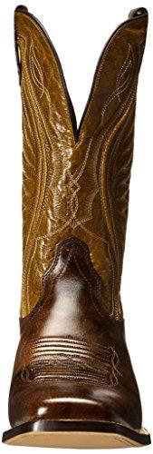 Ariat Hombres Hookin Horns Western Cowboy Bota Weathered Buckskin / Golden Tan