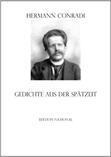 Amazoncom Gedichte Aus Der Spätzeit German Edition Ebook