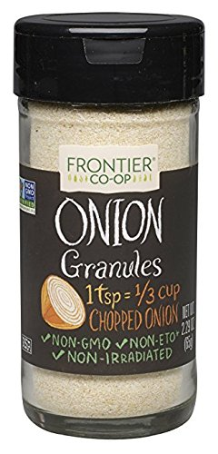 Frontier Onion Granules - Frontier CO-OP Onion Granules, 2.29 Ounce (pack of 6)