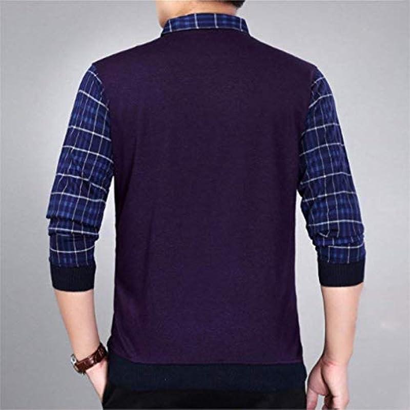 Męski casual długi rękaw sweter Knit Crew Neck Sweater Sweatshirt wygodny rozmiar wiosna jesień długi rękaw sweter dziergany top ubranie: Odzież