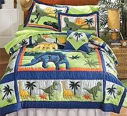 Amazon Com Dinosaurs Bedding Quilt Set Twin Single Bunk Bed