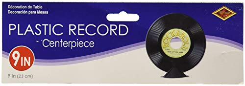 Plastic Record Centerpiece Party Accessory (1 count) -