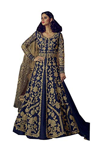 Designer Salwar 8 Navy Ethnic Indian Anarkali Traditonal Partywear Women Da Blue Facioun Kameez B8w7gxqt
