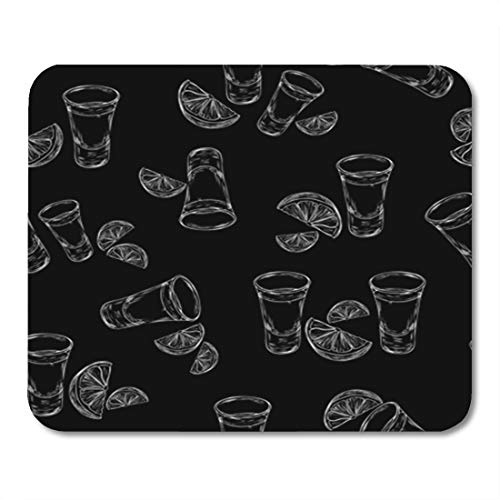 (Semtomn Gaming Mouse Pad Alcohol Tequila Shot and Slice Lime Glass of 9.5