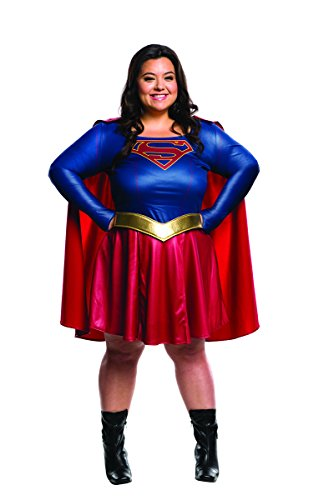 Super Hero Plus Costumes Size (Rubie's Women's Supergirl TV Plus Size Costume,)