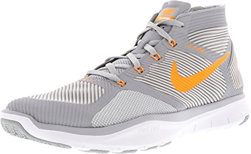 NIKE Men's Free Train Instinct Wolf Grey/Bright Citrus Ankle-High Running Shoe - 10M