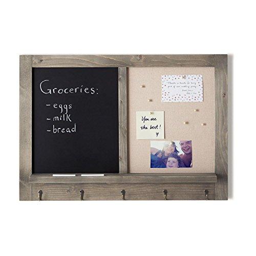 Wall Organization Board, Half Chalkboard & Half Pin Board]()