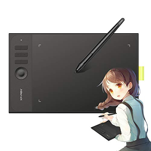 XP-PEN Star06C V2 10x6 Inch Graphics Tablets Digital Drawing Tablets 8192 Level Pressure Battery-Free Stylus Drawing Pen Tablets with 6 Hot Keys Support Windows 10/8/7 MAC OS X 10.10