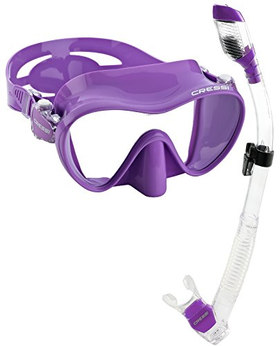 rosa tubo Lilac rosa de de Set buceo Cressi gafas y wRqSn8ZC
