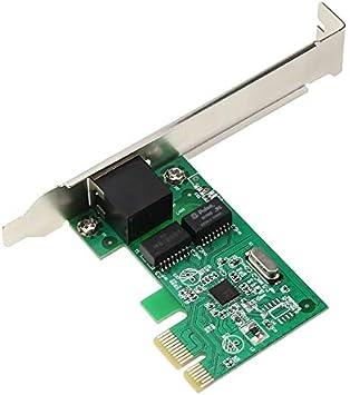 Gugutogo Exquisitamente dise/ñado Durable Gigabit Ethernet LAN PCI-E Express Tarjeta de Red Controlador de Escritorio 10//100 1000M