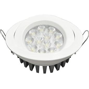 Guli TD36 Cibeles LED con driver No incluido 7000K, 15 W, Blanco, Ø129 x 34 mm: Amazon.es: Iluminación