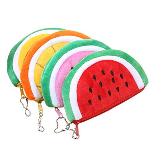 Transer Lovely Watermelon Coin Bag Purse Wallet Pencil Case Plush Large Pen Bag For Kids (random) Lovely Coin Bag