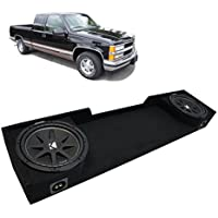 1988-1998 Chevy CK Silverado Ext Truck Kicker Comp C12 Dual 12 Sub Box Enclosure - Final 2 Ohm