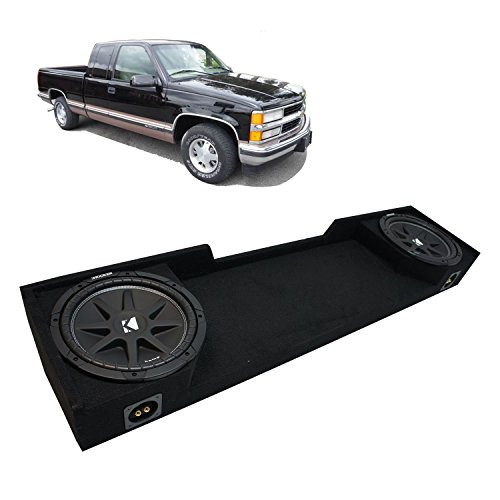 "Fits 1988-1998 Chevy CK Silverado Ext Truck Kicker Comp C12 Dual 12"" Sub Box Enclosure - Final 2 Ohm"