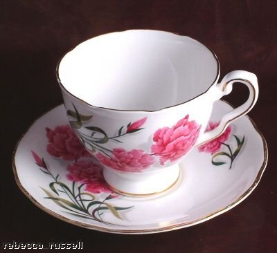 Royal Stafford footed teacup & saucer -
