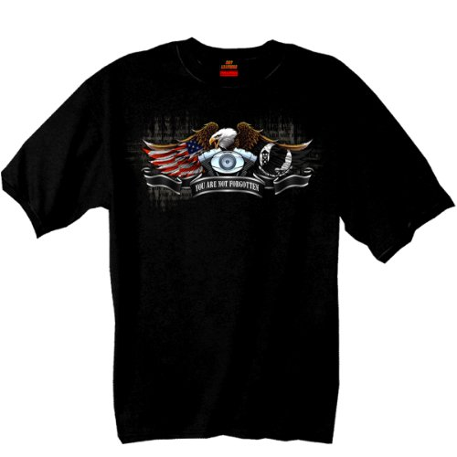 - Hot Leathers All Gave Some POW Eagle 100% Cotton Double Sided Printed Biker T-Shirt