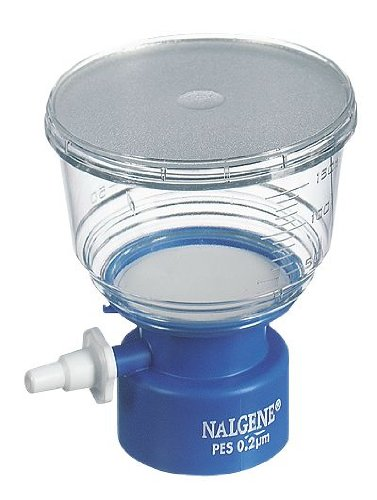 Nalgene 124-0045 Filter Unit with Polyethersulfone Membrane, 115ml Capacity, 0.45µm Pore Size, 50mm Membrane Diameter (Case of 72) by Nalgene