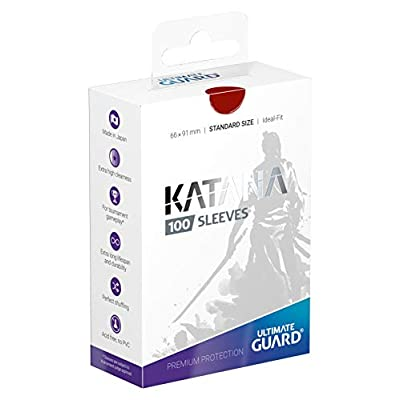 Ultimate Guard Katana Sleeves Standard Size Red (100): Toys & Games
