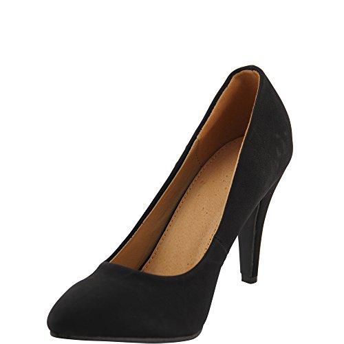 Unbekannt - Zapatos con tacón Mujer Negro - negro