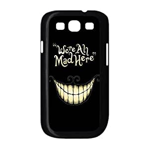 Alice in Wonderland We're all mad here Cheshire Cat Always Grin Especial Durable Hard Plastic Case Cover Fits Samsung Galaxy S3 I9300 Design Yedda DIY