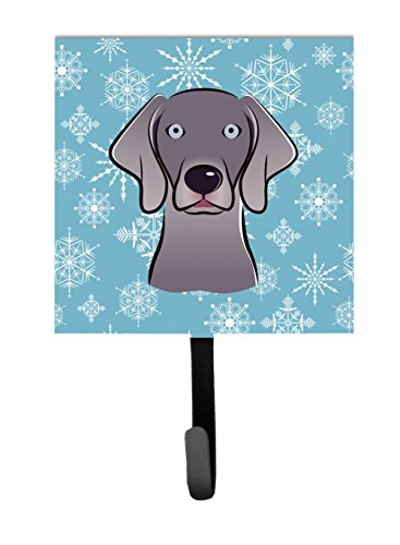 Caroline's Treasures BB1665SH4 Snowflake Weimaraner Leash or Key Holder, Small, Multicolor (Weimaraner Leash Hook)