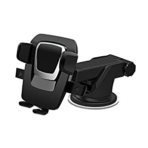Cyber Cart Adjustable Car Phone Holder Windowscreen Car Mount Cradle For Mobile Phone,iPhone, Tablet (BALCK)