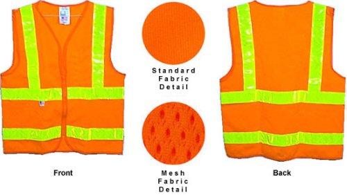 クラス3つレベル2オレンジ安全シャツとシルバーストライプXXLサイズ B0002TRB6A