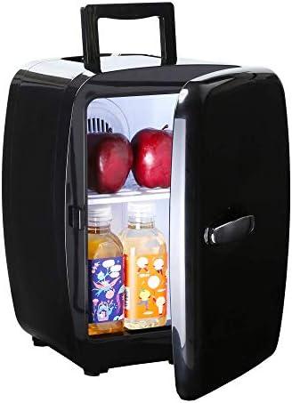 14Lミニカー冷蔵庫ガール化粧品ストレージ小電力学生寮冷蔵庫ポータブル夏のスーツケース,黒