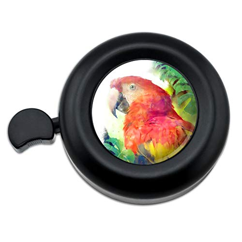 GRAPHICS & MORE Rainforest Macaw Parrot Tropical Watercolor Bicycle Handlebar Bike Bell