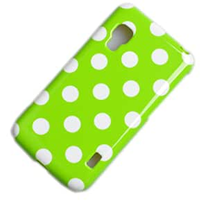 Einzige Slim Fit Flexible TPU Case Cover for LG E460 Optimus L5 II with Free Universal Screen-Stylus (Green White Point)