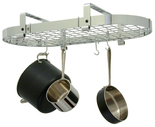 - Enclume Low Oval with Grid Premier Ceiling Rack, Chrome