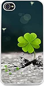 iPhone 4S Case Snap on iPhone 4S Back Cover Skin Slim Fit Protective Clover