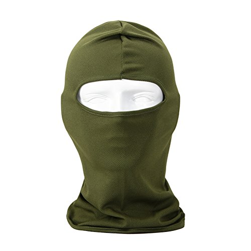 Your Choice Motorcycle Cycling Balaclava Thin UV Protective Sports Ski Face Mask (Army Green)