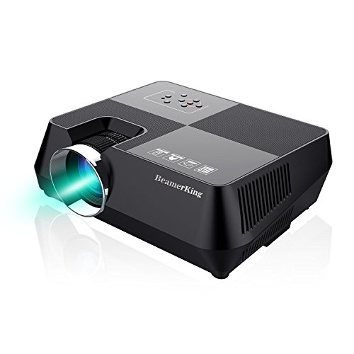 BeamerKing Projector Home Theater Video +30% Lumens Mini Portable Led Projectors Projector Up 170'' Full HD 1080P Movie Screen HDMI USB VGA AV iPhone