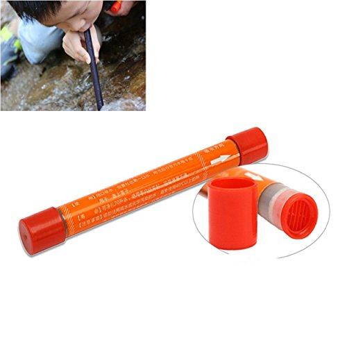 LUCHENG 125mmx12mm Portable Mini Straw Water Purifier Camping Hiking Outdoor Water Straw Filter Safety Survival Emergency Supplies by LUCHENG