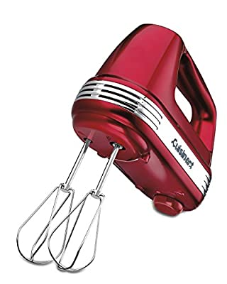 Cuisinart HM-70MR Power Advantage 7-Speed Hand Mixer, Metallic Red