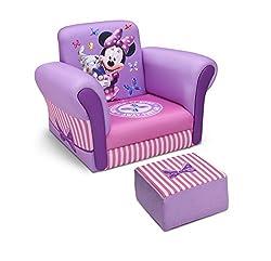 Delta Children Upholstered Chair with Ottoman, Disney...