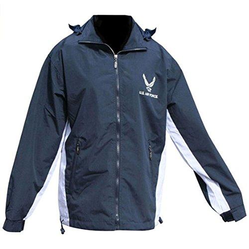 Mitchell Proffitt Men's US Air Force Fleece Jacket Reversible 2XL Navy Blue & White