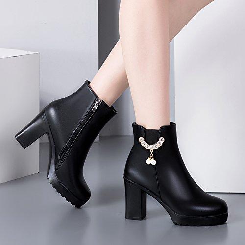 AGECC Damen Stiefel Bequeme Schöne Durable Kurze Stiefel Wasserdichte Stiefel Mit Heels Stiefel Martin Crude