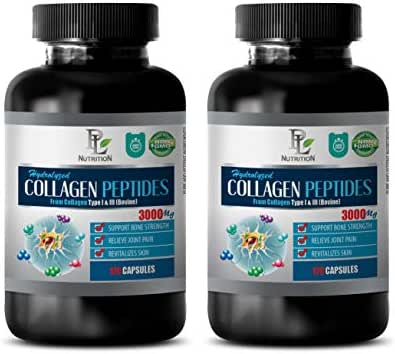 Joint Supplements for Women Capsules - HYDROLYZED Collagen PEPTIDES 3000MG from Type I & III - hydrolyzed Collagen Capsules for Women - 2 Bottles 240 Capsules