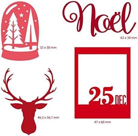 Troqueles de corte de metal de renos y /árboles de Navidad para Scrapbooking y fabricaci/ón de tarjetas Craft 2019 Nuevos troqueles
