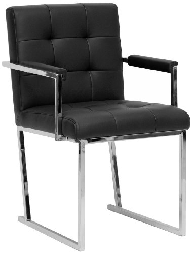 Baxton Studio Collins Mid-Century Modern Accent Chair, Black