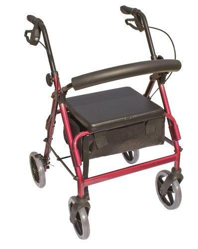 Essential Medical Supply The Blazer 4 Wheel Walker, Red by Essential Medical Supply