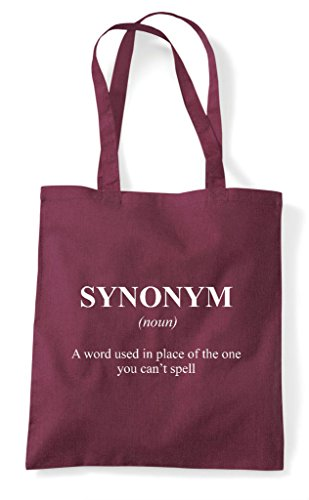 In Synonym Not Tote Funny Shopper Bag Definition The Dictionary Alternative Burgundy qxwIUSgaxC
