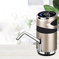 5 gallon Bottle Water Pump, USB Charging Portable Electric Drinking Water Bottle Pump Dispenser for Home Kitchen Office (Golden)