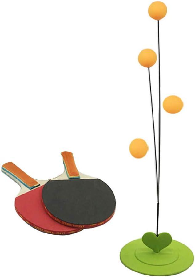 Rekkles Herramienta de Fitness Tenis de Mesa de Ping-Pong Trainer Soft Formación Máquina del Eje elástico Kid Práctica de Madera
