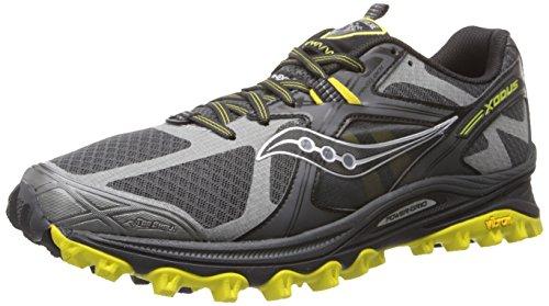Saucony Men's Xodus 5.0 Trail Running Shoe,Grey/Black/Sulphur,11.5 M US